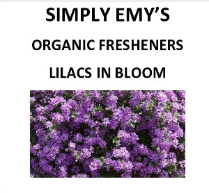 Simply Emy Organic Freshener-Lilacs In Bloom, 3pk