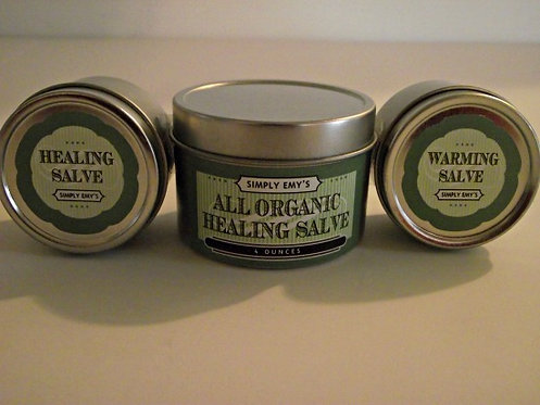 Simply Emy's Organic Warming Salve - 2oz Tin