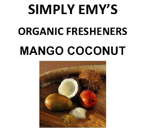 Simply Emy Organic Freshener-Mango Coconut-3pk