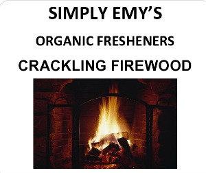Simply Emy Organic Freshener, Crackling Fire, 3pk