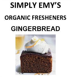 Simply Emy Organic Freshener-Gingerbread, 3pk