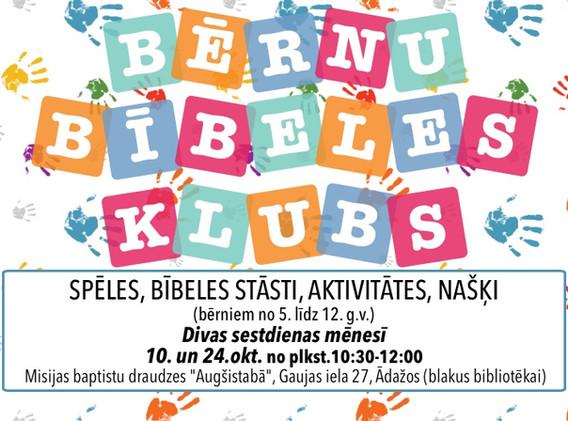 Bērnu Bībeles Klubs 2020 - mājas lapa.jp