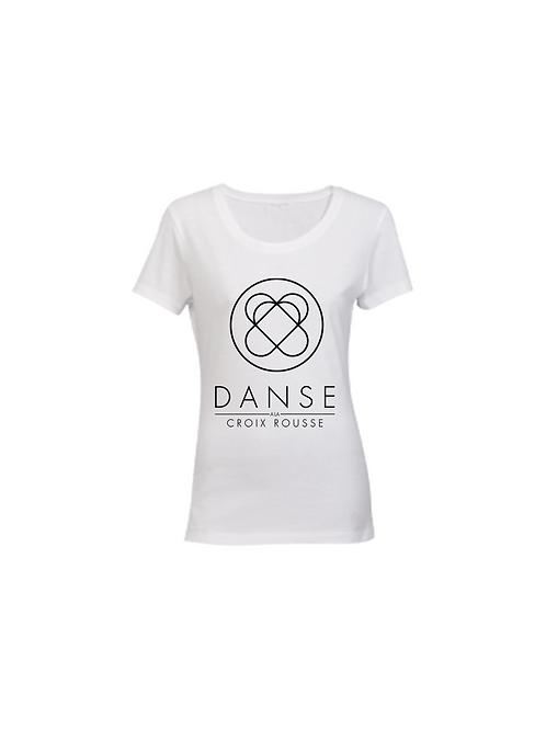 """Tee-Shirt Adulte Blanc """"Danse à la Croix Rousse"""" L"""