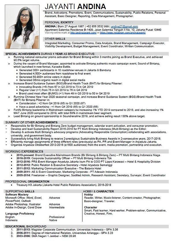 2020 CV Page 1.JPG
