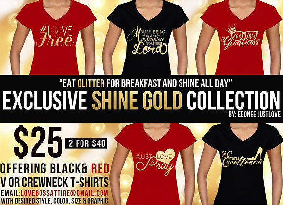 Godly Gold Tee Shirt Collection