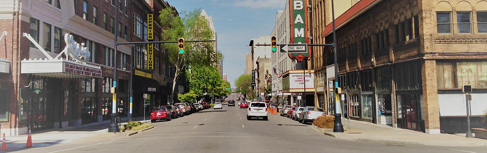 Downtown Birmingham, AL city street