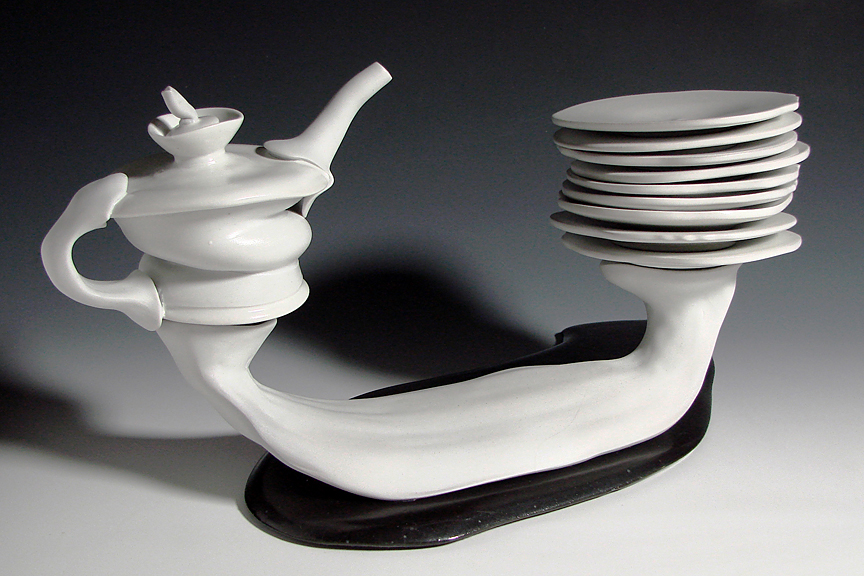 oil cruet with bread plates