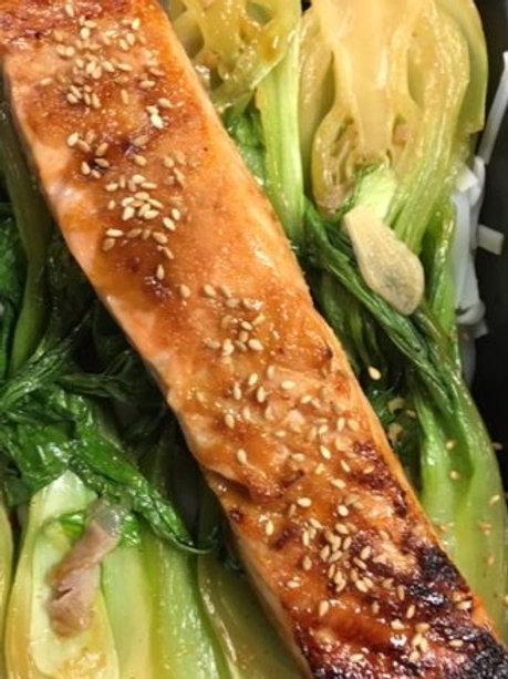 Fresh Salmon with asian marinade