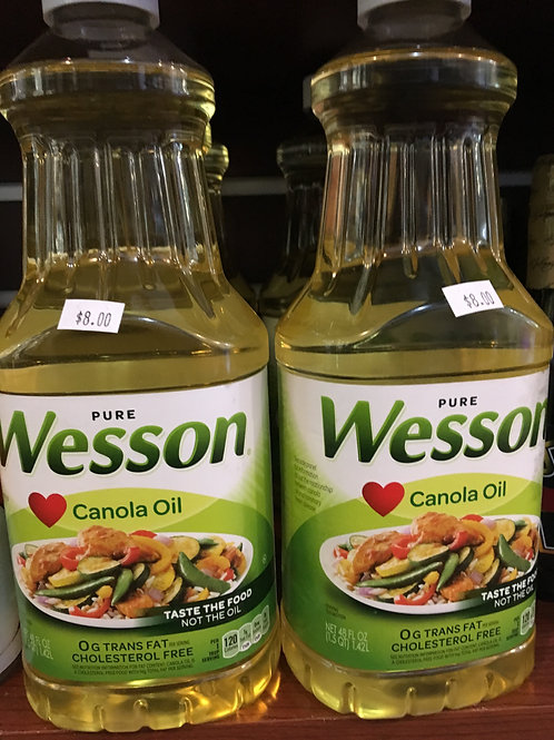 Wesson Canola Oil 48 oz