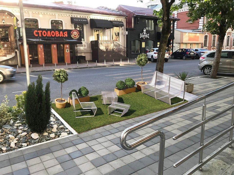 Проект парклетов департамента архитектуры Краснодара / Фото: instagram.com/design_kod_krd