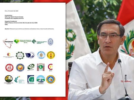 Cámaras regionales entregaron expediente técnico con 29 propuestas para la reactivación empresarial