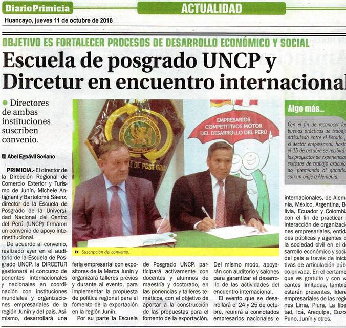 11 OCT ESCUELA DE POSGRADO UNCP Y DIRCET