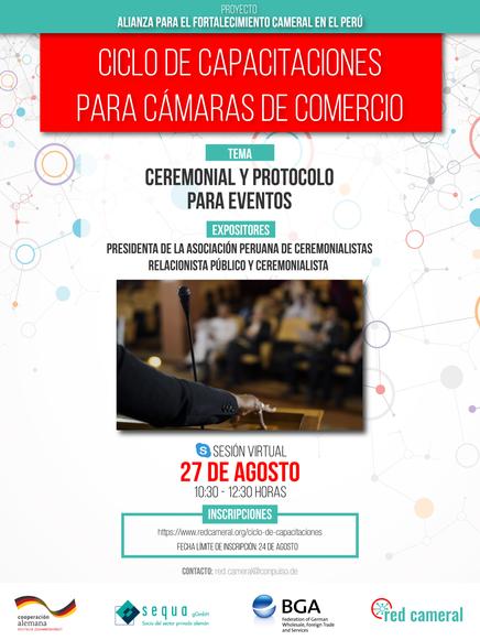 CEREMONIAL Y PROTOCOLO PARA EVENTOS