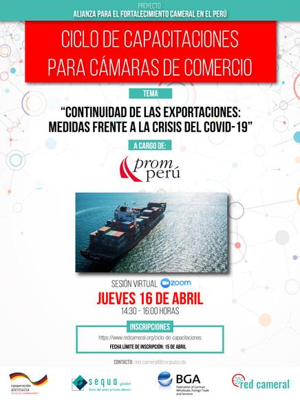 CONTINUIDAD DE LAS EXPORTACIONES: MEDIDAS FRENTE A LA CRISIS DEL COVID-19