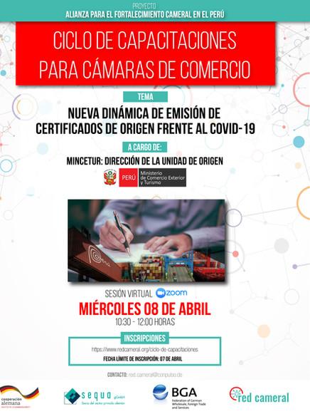 NUEVA DINÁMICA DE EMISIÓN DE CERTIFICADOS DE ORIGEN FRENTE AL COVID-19