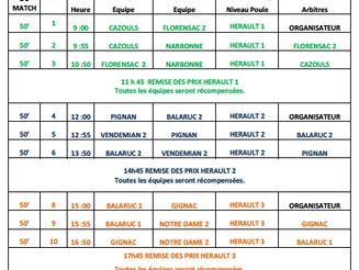 Plateaux Cadets à Grabels et Montpellier