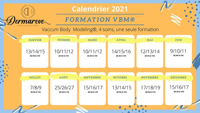 Calendrier des formations VBM 2021
