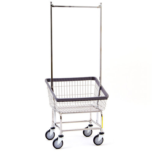 Front Load Laundry Cart with Rack