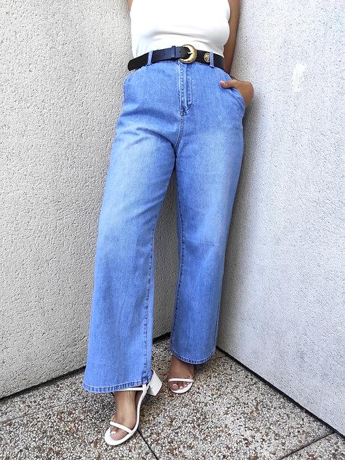 Jean jambes larges - Bleu