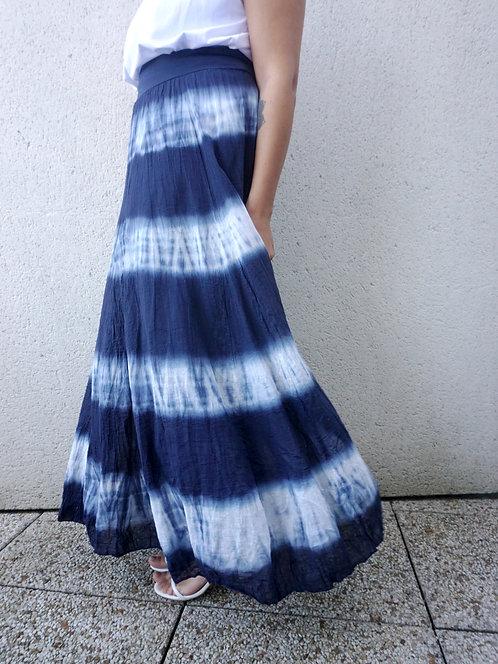Jupe longue Tie & Dye - Marine