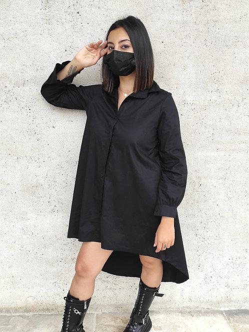 Chemise longue - Noir