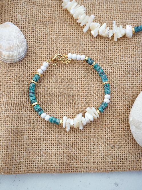 Bracelet POSEIDON - Vert récif