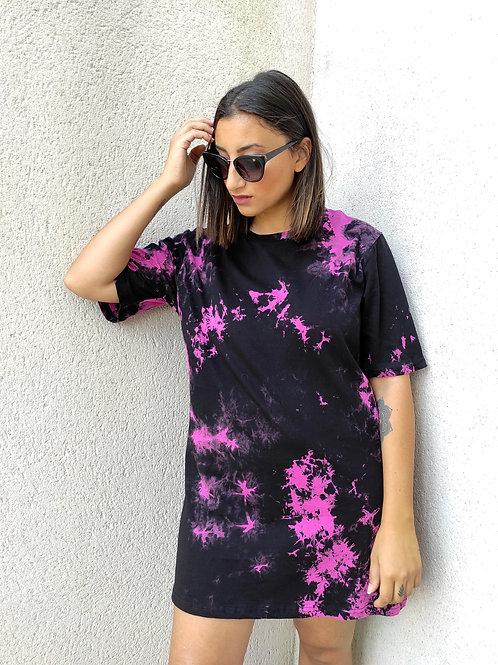 Robe t-shirt Tie & Dye - Noir