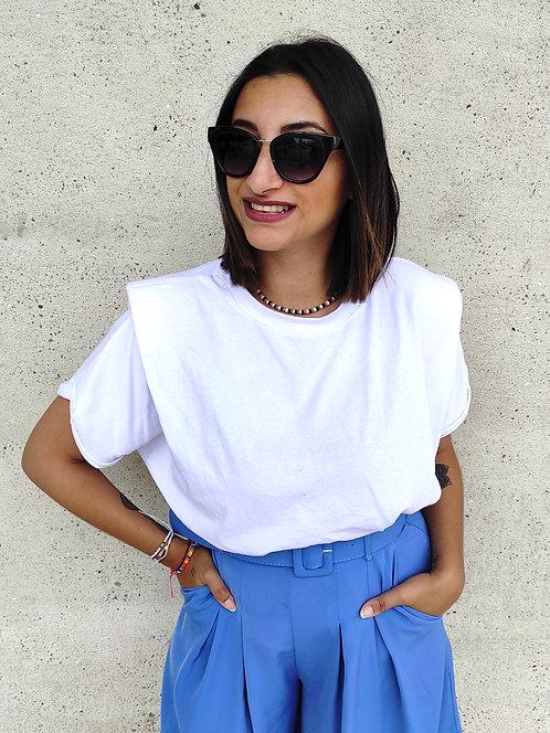Top manches épaulettes - Blanc
