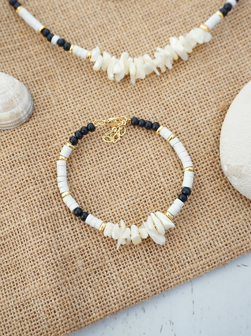 Bracelet POSEIDON - Blanc/Noir