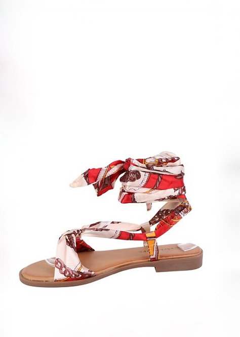 Sandales foulard - Beige