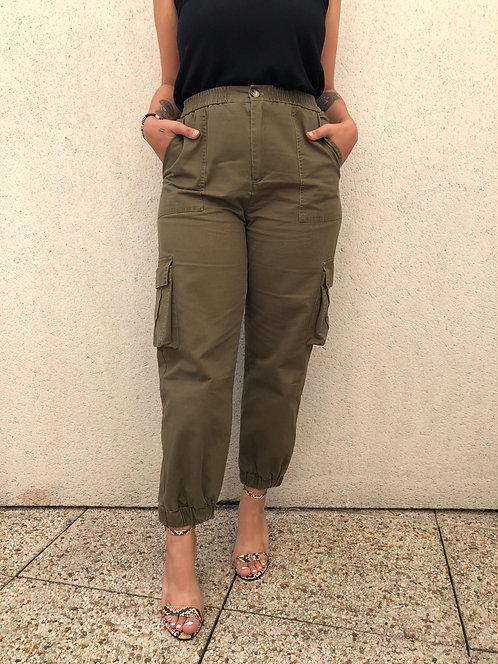 Pantalon cargo - Kaki