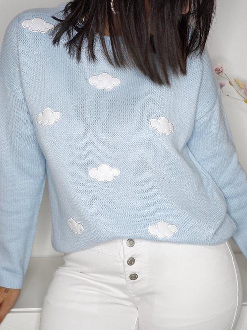 Pull nuage - Bleu ciel