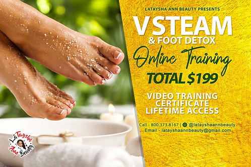 V Steam and Foot Detox Online Training