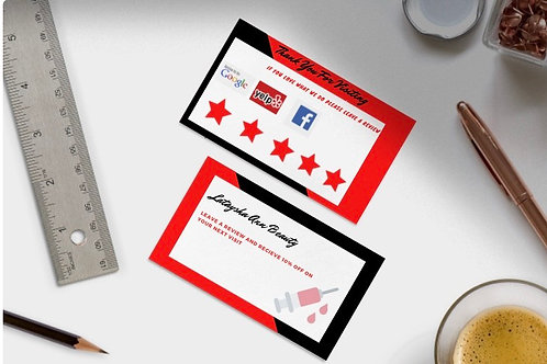 Leave us a Review Card