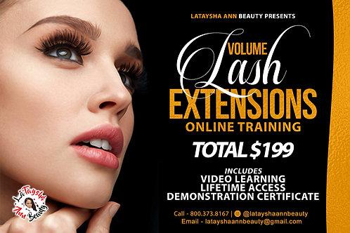 Online Volume Eyelash Extension Course