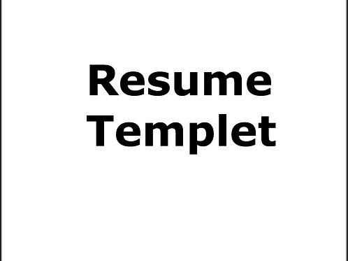 Editable Resume Template