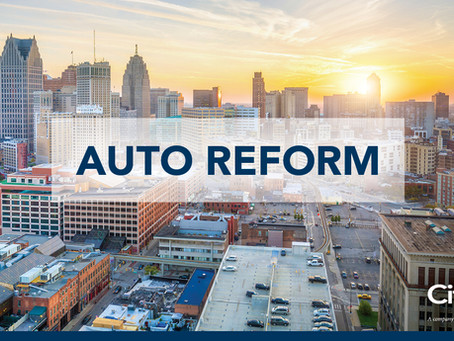 Michigan no-fault reform—notable changes and provisions*