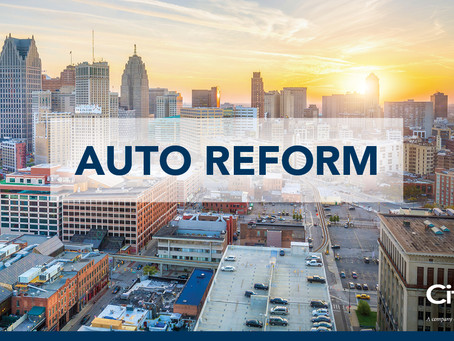 No-fault auto reform. Choose your carrier and make your changes. It's that simple.