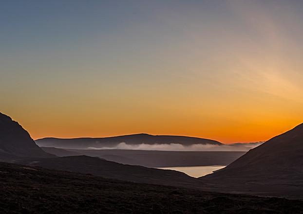 Altan Lough, Sunset