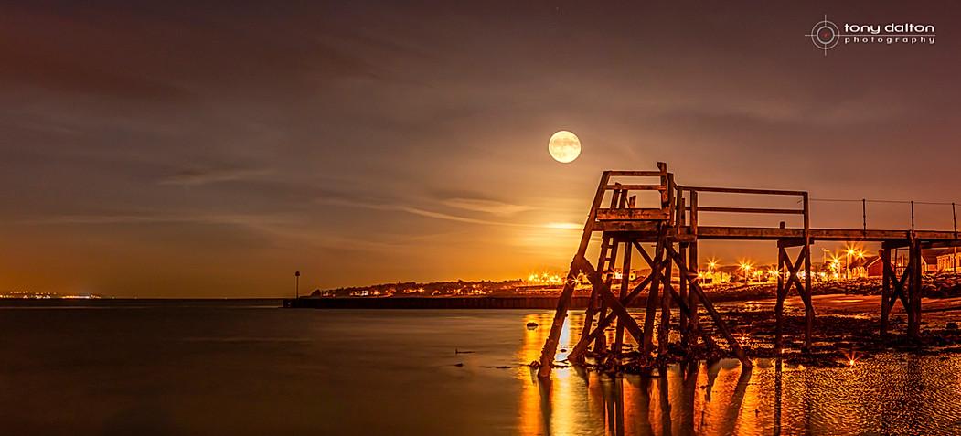 Kinnegar Pier Super Moon