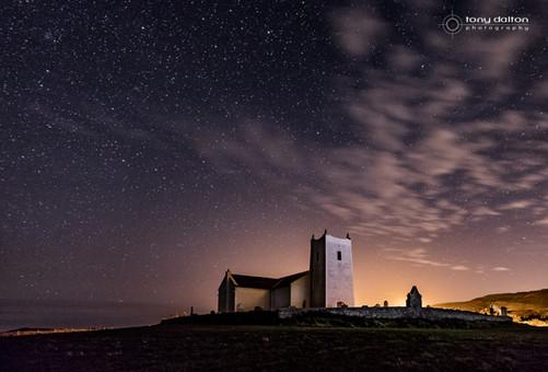 Ballintoy Church Midnight