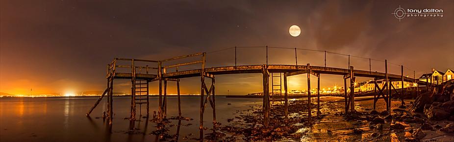 Super Moon at Kinnegar Pier