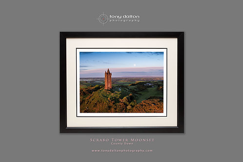 Scrabo Tower Moonset