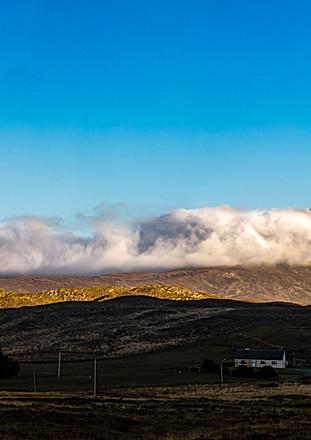 Mount Errigal, Cloudy Sunset