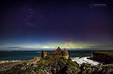 Dunluce Castle Aurora