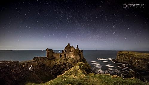 Dunluce Castle Night Sky
