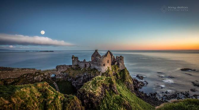 Dunluce Castle Moonset, Co. Antrim