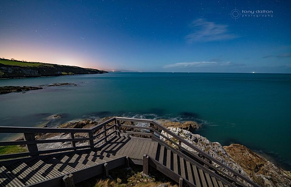 Portmuck Harbour by Moonlight
