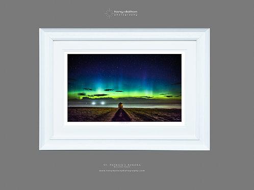 St. Patrick's Aurora - White Frame