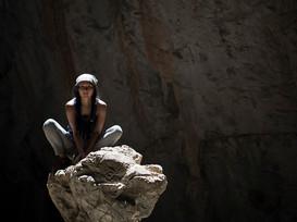 Climbing in a Bat Cave - Thailand